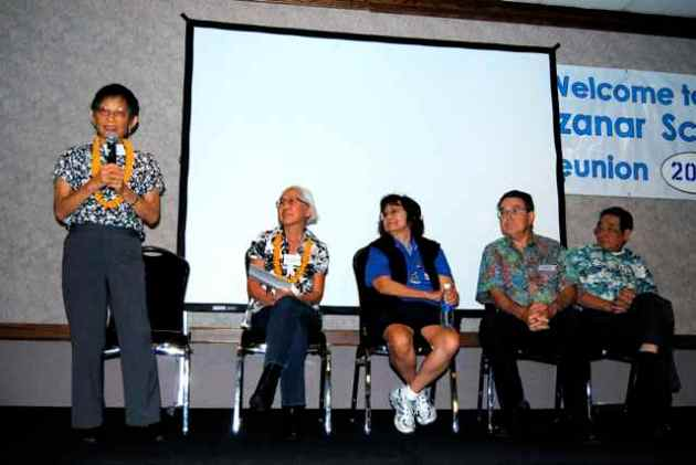 Former residents of Children's Village talk about their experiences during a panel discussion.
