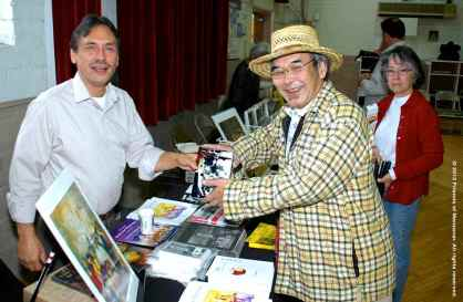 Manzanar Committee Co-Chair Bruce Embrey (left) with Richard Imamura (right). ©2012 Friends of Manzanar. All rights reserved.