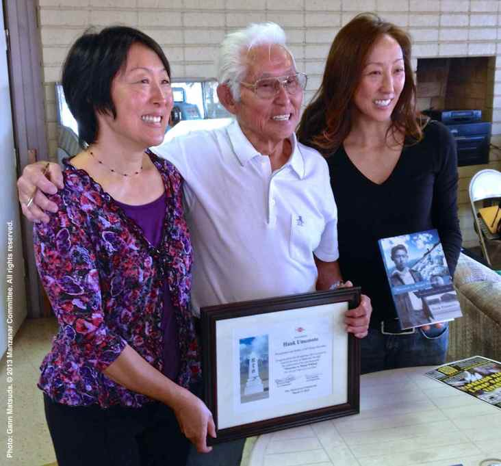 Hank Umemoto with two of his daughters: Jasmine Grace (left) and Michelle Nakamura (right).