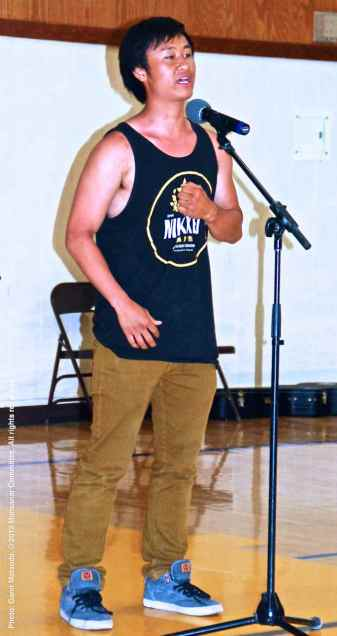 The Cal State Long Beach Nikkei Student Union tells their story about another Japanese American who was unjustly incarcerated during World War II. Kelvin Nabeshima is shown here.