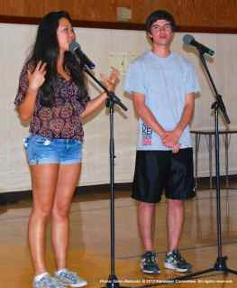 Emcees Megan Ono and Sam Ebiner