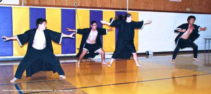 """Members of the CSULB and UCSD Nikkei Student Unions performed """"Souran Bushi,"""" a traditional Japanese dance."""