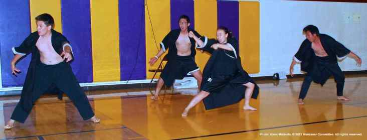 "Members of the CSULB and UCSD Nikkei Student Unions performed ""Souran Bushi,"" a traditional Japanese dance."