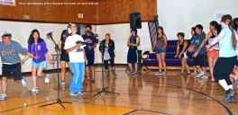 """An impromptu ondo dance during the open mic session to """"Tanko Bushi,"""" performed with new lyrics written for this event."""