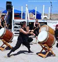 "UCLA Kyodo Taiko opens the PIlgrimage with ""Matsuri."""