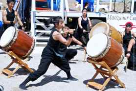"UCLA Kyodo Taiko opens the 44th Annual Manzanar Pilgrimage with ""Matsuri."""