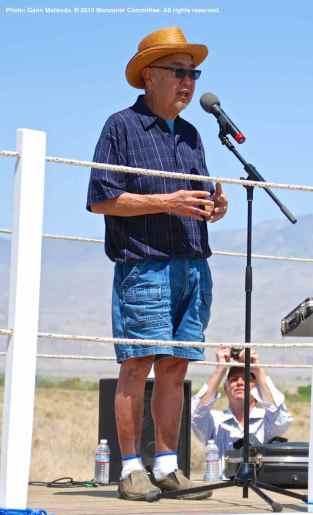 Warren Furutani, one of the founders of the modern-day Manzanar Pilgrimage in 1969, was honored by the Manzanar Committee, which presented him with the 2013 Sue Kunitomi Embrey Award.