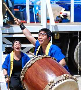 """UCLA Kyodo Taiko performs their signature song, """"Encore."""""""
