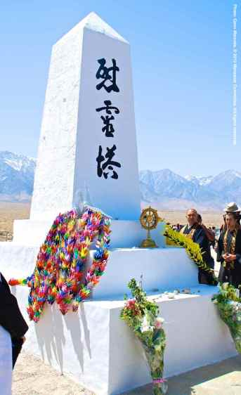 The Manzanar cemetery monument
