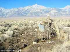 Los Angeles Department of Water and Power gauging station on Bairs Creek, upstream from Manzanar National Historic Site.
