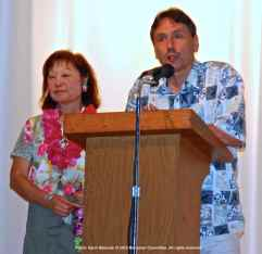 Manzanar Committee Co-Chair Kerry Cababa (left) and Bruce Embrey (right)