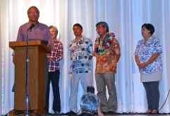 Friends of Manzanar chair Bruce Saito honored Les Inafuku
