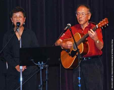 San Fernando Valley JACL members Nancy Gohata (left) and Phil Shigekuni (right)
