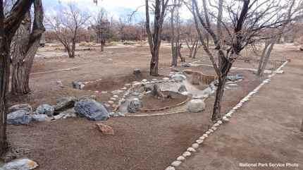 Block 12 Mess Hall Garden at Manzanar National Historic Site, after restoration.