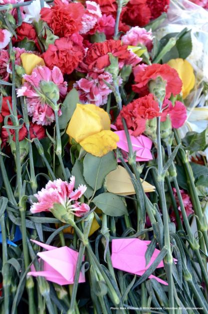 Flowers for use during the Interfaith service during the 46th Annual Manzanar Pilgrimage.