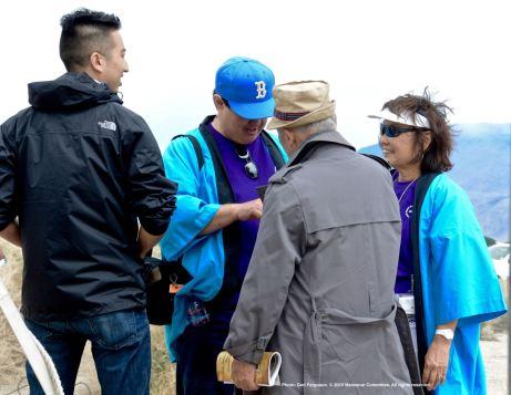 From left: Craig Ishii (emcee); Gann Matsuda; Rev. Paul Nakamura (facing away) and Kerry Cababa.