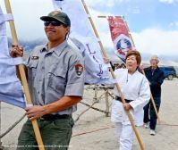 Dave Goto (left), Nancy Oda (center/right) and Bill Shishima (rear).