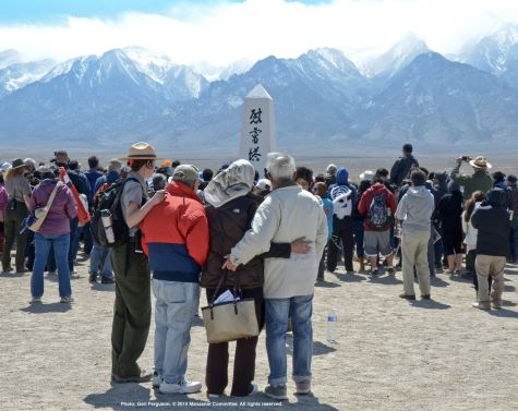 The Manzanar cemetery during the traditional interfaith service.