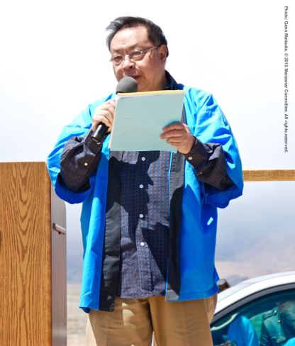 "Manzanar Committee member Jonathan Lee sings, ""Shina na yoru,"" a song that was very popular in the camps during World War II."