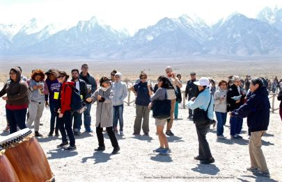 Ondo dancing marks the traditional conclusion of the annual Manzanar Pilgrimage.