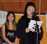 College students organize the Manzanar At Dusk program, which begins with a creative presentation in which portions of actual stories from former incarcerees are portrayed.
