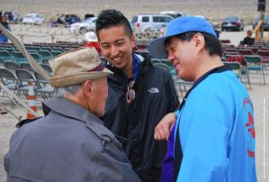 Rev. Paul Nakamura (left), Craig Ishii (center), Gann Matsuda (right).