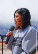 2013-14 UCSD Nikkei Student Union President Julia Teranishi was a speaker at the 46th Annual Manzanar Pilgrimage.