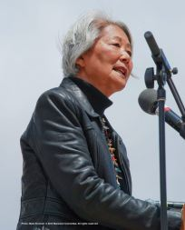 Hatsuko Mary Higuchi was a speaker at the 46th Annual Manzanar Pilgrimage.