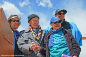 From left: Kerry Cababa, Rev. Paul Nakamura, his wife, Kikuno, Bruce Embrey.