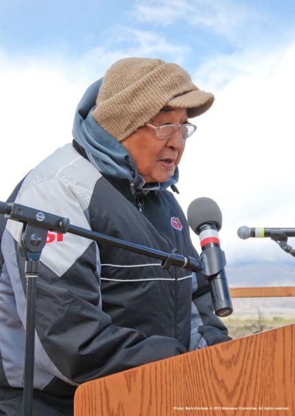 Former Manzanar incarceree Wilbur Sato.