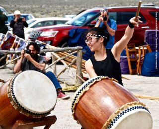UCLA Kyodo Taiko opened the 47th Annual Manzanar Pilgrimage.