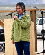 Jun Yamada, Consul General of Japan, San Francisco, shown here addressing the crowd during the 47th Annual Manzanar Pilgrimage.