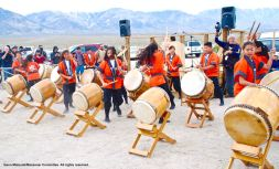 Daion Taiko from Orange County Buddhist Church performed during the 47th Annual Manzanar Pilgrimage.