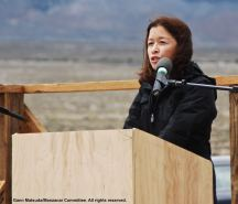 Dr. Cathy Irwin was the keynote speaker for the 47th Annual Manzanar Pilgrimage.