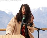 Featured speaker Maytha Alhassen, shown here during the 47th Annual Manzanar Pilgrimage.
