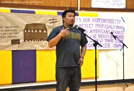 Jason Fujii from CSULB Nikkei Student Union, shown here during the 2016 Manzanar At Dusk program.