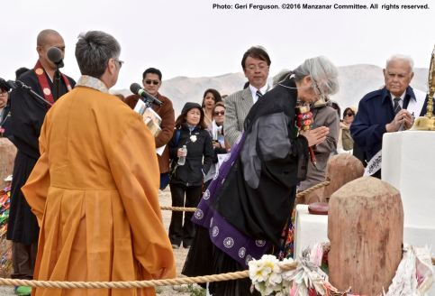 Interfaith service during the 47th Annual Manzanar Pilgrimage.