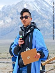 Craig Ishii was the master of ceremonies for the 47th Annual Manzanar Pilgrimage