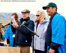 Former Inyo County Superviros Bob Bracey (second from left) received the 2016 Sue Kunitomi Embrey Legacy Award.