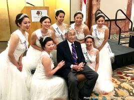 Jack Kunitomi with the 2016 Nisei Week Court. Photo: Gann Matsuda/Manzanar Committee