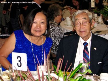 From left: Colleen Miyano and Jack Kunitomi. Photo: J.K. Yamamoto/Rafu Shimpo