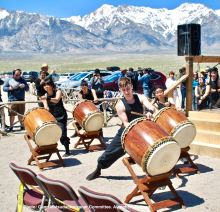 UCLA Kyodo Taiko opened the 48th Annual Manzanar Pilgrimage.