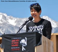 traci ishigo of #VigilantLOVE co-emceed the program.