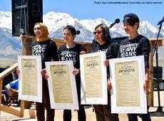 From left: Sahar Pirzada, traci kato-kiriyama, Kathy Masaoka) and traci ishigo performed a powerful, inspiring poem