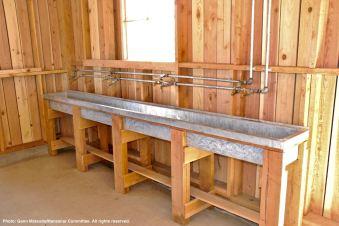 Communal sink in the Block 14 women's latrine.