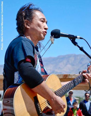 Japanese folk musician Ken Koshio