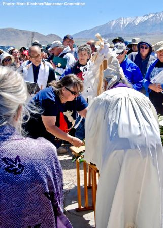 A portion of the Shinto purification rite, performed by Rev. Alfred Tsuyuki of the Konko Church of Los Angeles