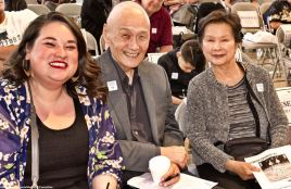 From left: Kristin Fukushima (Little Tokyo Community Council), Alan Nishio (NCRR) and Yvonne Nishio.