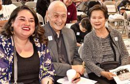 From left: Kristin Fukushima (Little Tokyo Community Council), Alan Nishio (NCRR) and Yvonne Nishio.