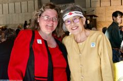 Alisa Lynch Broch, Chief of Interpretation, Manzanar National Historic Site with former Manzanar incarceree and Manzanar Committee member Pat Sakamoto.